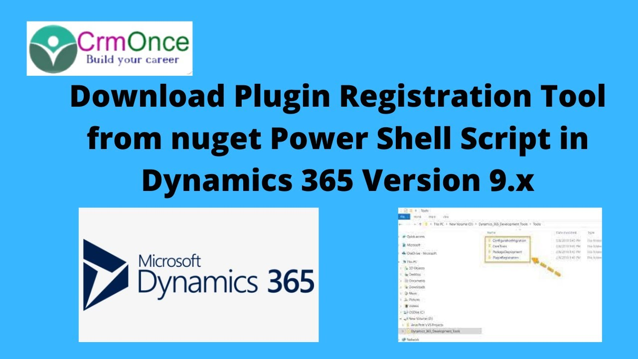 Download Plugin Registration Tool from nuget Power Shell Script in Dynamics  365 Version 9 x