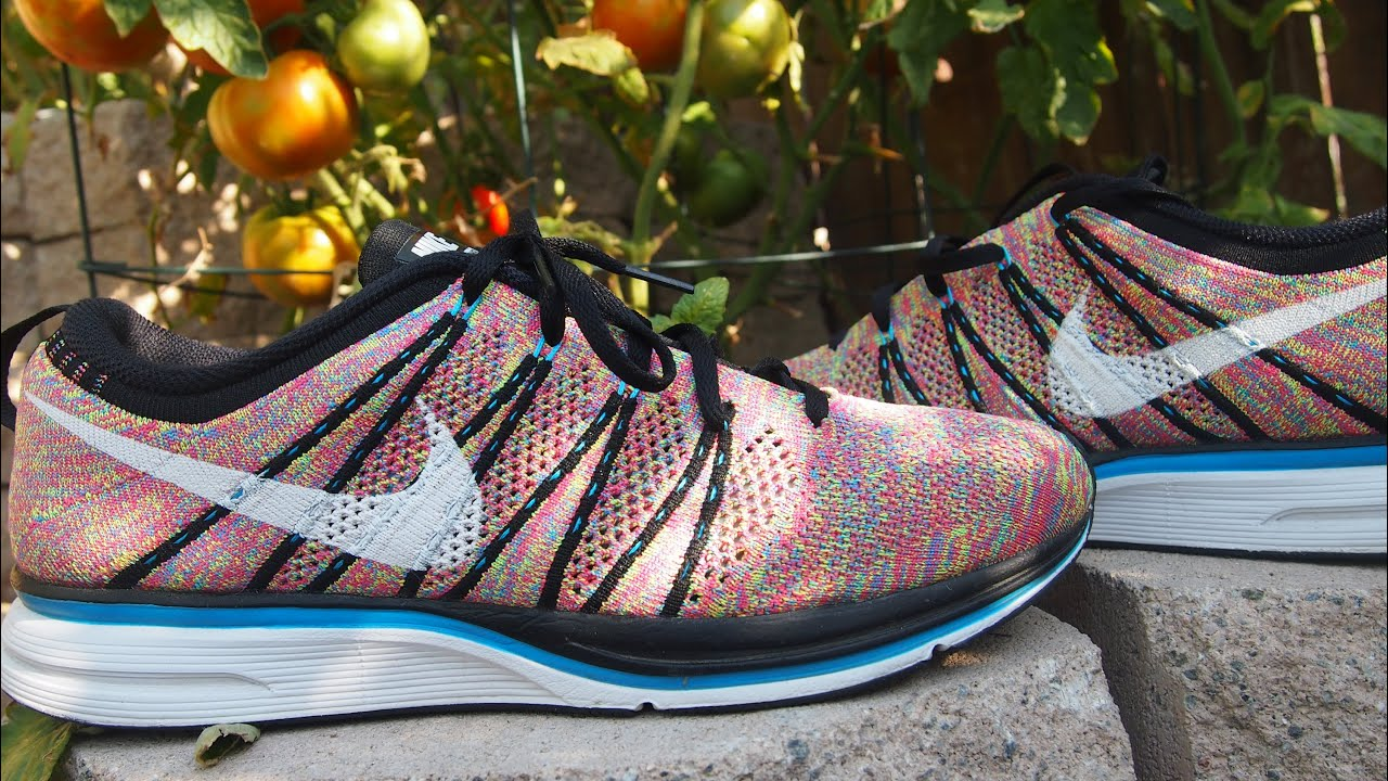 nike flyknit racer vs trainer 'multicolor'