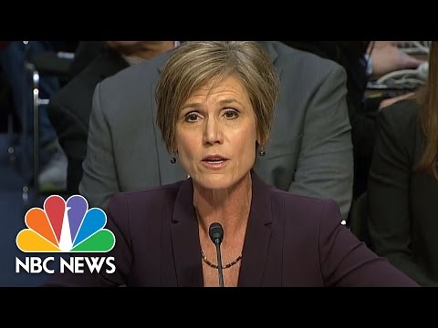 Ex-AG Sally Yates Details Meetings With White House On Michael Flynn, Russia | NBC News