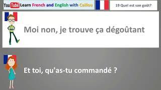 dialogue en francais - 19 - quel est son gout