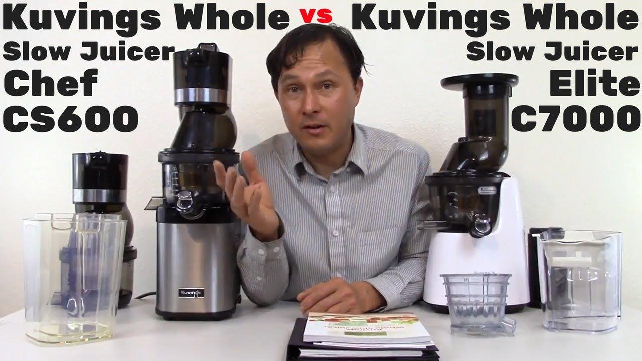 Kuvings Whole Slow Juicer Chef CS600 vs Kuvings Whole Slow Juicer Elite C7000 Comparison Review