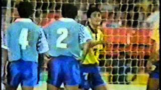 Brasil 2x0 Uruguai Eliminatórias 1993 Globo