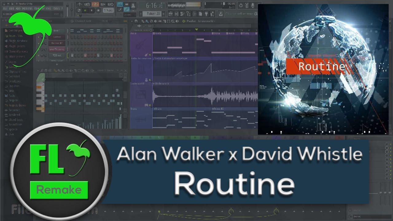 Routine - Alan Walker & David Whistle | Shazam