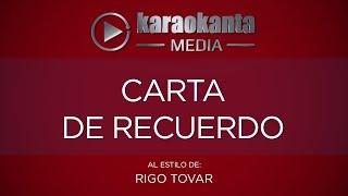 Karaokanta - Rigo Tovar - Carta de recuerdo
