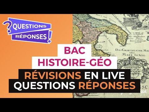 Bac 2017 - Révisions LIVE d'Histoire Géo : Session QUESTIONS/RÉPONSES