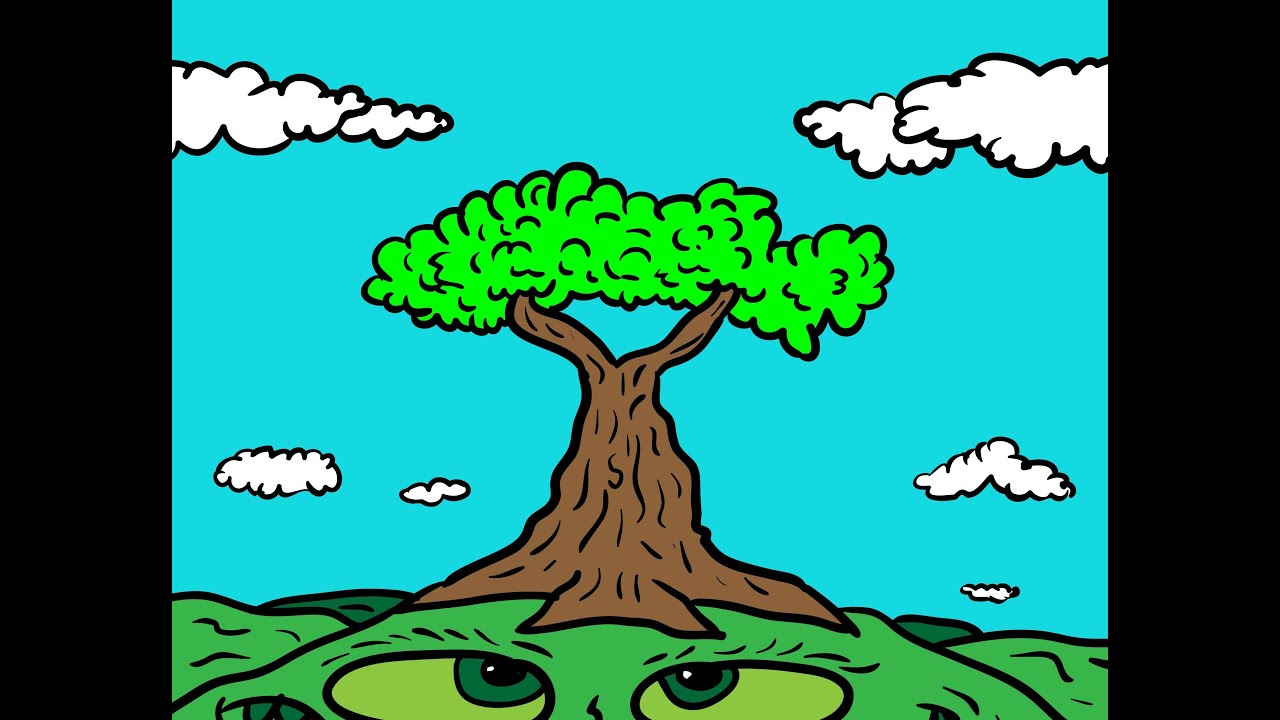 drawing ideas for kids 569 how to draw a cartoon tree youtube - Cartoon Drawings Kids
