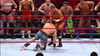 John Cena & Randy Orton face the entire Raw roster: Raw, March 17, 2008