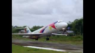 Cebu Pacific DC-9 Take-off at Tagbilaran Airport