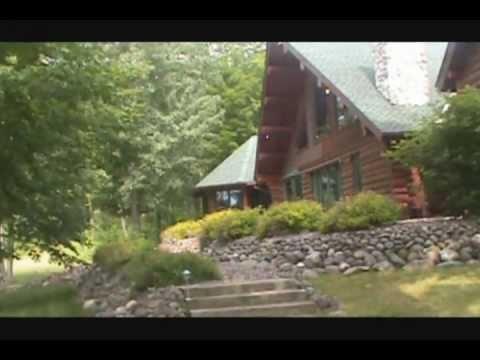 buy wisconsin log cabin on prestigious lake front youtube. Black Bedroom Furniture Sets. Home Design Ideas