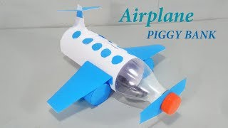 How To Make Airplane Piggy Bank  - DIY Kids Piggy Bank