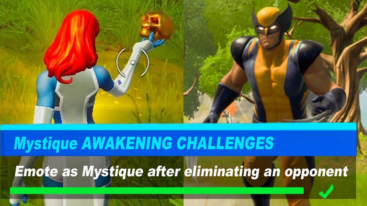 Emote as Mystique after eliminating an opponent Fortnite
