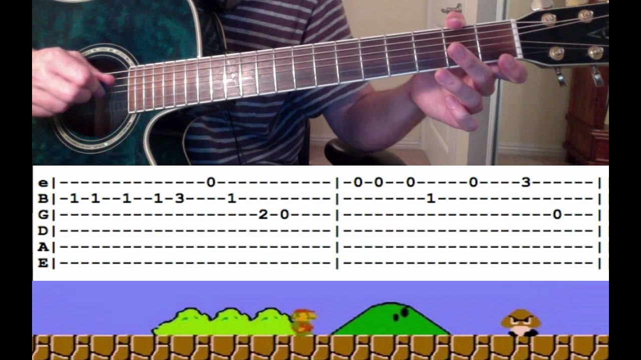 Guitar Lesson: Super Mario Theme Song (with Tabs) -- How to Play / Tutorial - YouTube