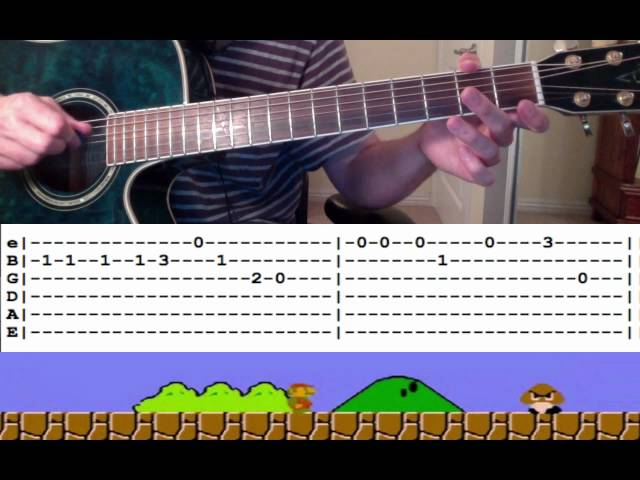 Guitar guitar tabs 007 theme song : Guitar Lesson: Super Mario Theme Song (with Tabs) -- How to Play ...