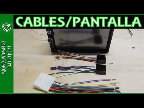 Colores de cables de autoestereo con pantalla (los mas usados)