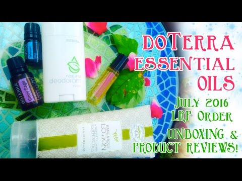 doTerra July 2016 LRP Order (Unboxing & Review)