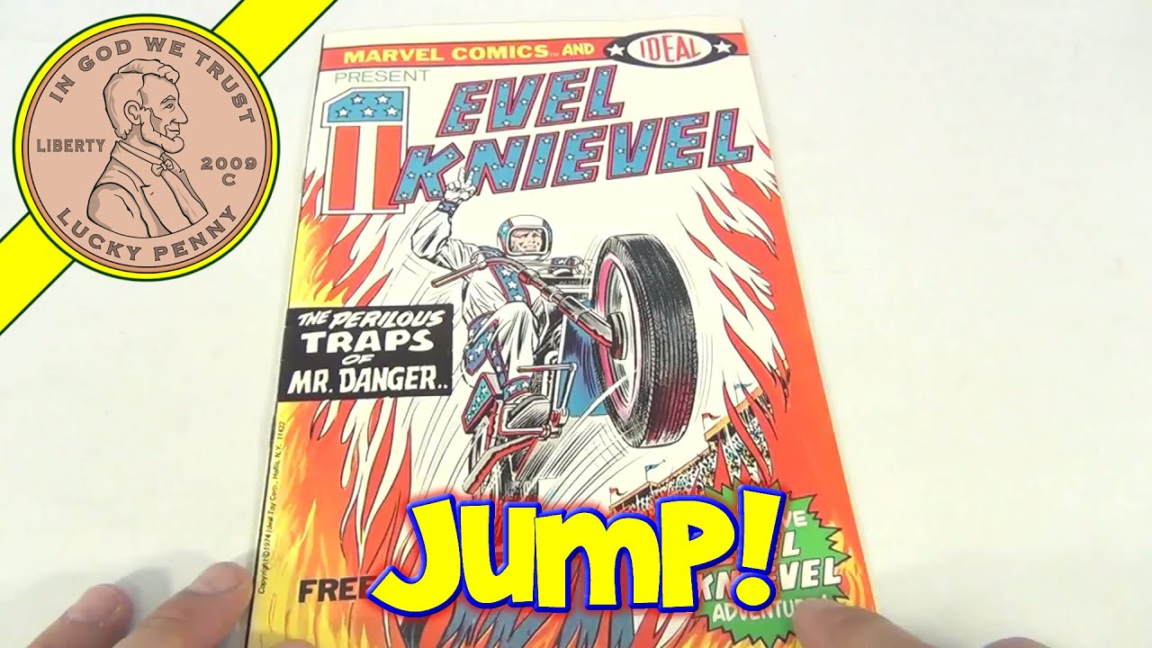 Vintage Evel Knievel In His: Vintage Evel Knievel Marvel Comic Book, 1974 Ideal Toys