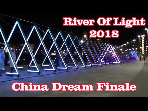 China Dream Finale Light Installations, Liverpool (River of Light)