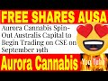 Aurora Cannabis Provides Update On Australis Capital (TSXV: AUSA)Public Listing