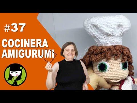 COCINERA AMIGURUMI 37 gorro de cocinero tejido a crochet