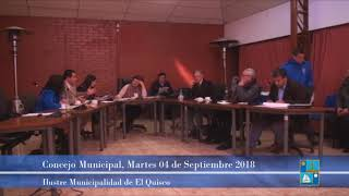 Concejo Municipal Martes 04 de Septiembre 2018