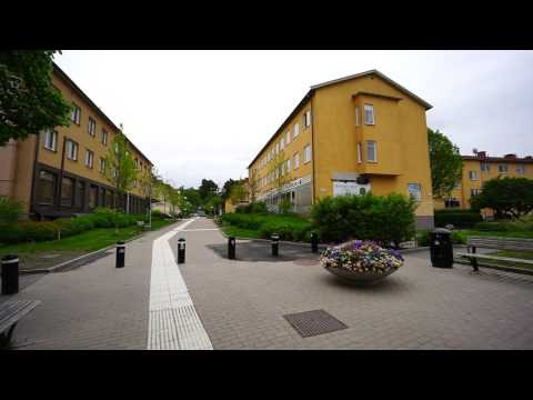 Sweden, Stockholm, walking in Spånga Centrum