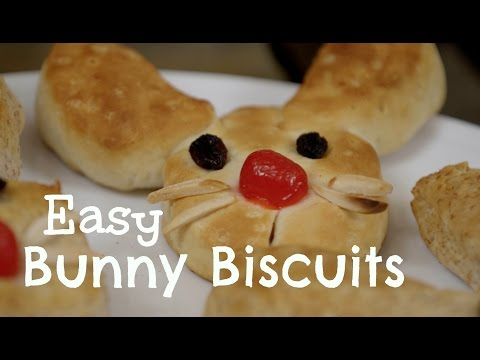 Easy Kid Recipes- Easter Bunny Biscuits