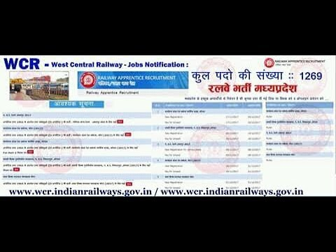 West Central Railway Recruitment 2017 Apply For 1269 Apprentice