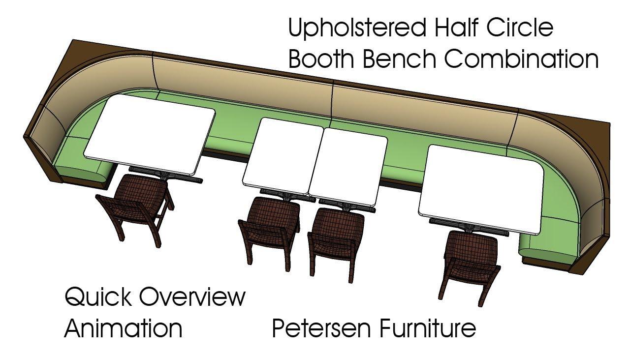 Half Circle Restaurant Booth Bench