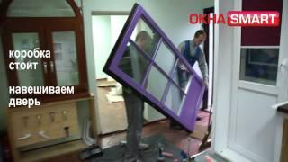 Монтаж деревянной входной двери со стеклопакетом(, 2010-11-13T10:13:37.000Z)