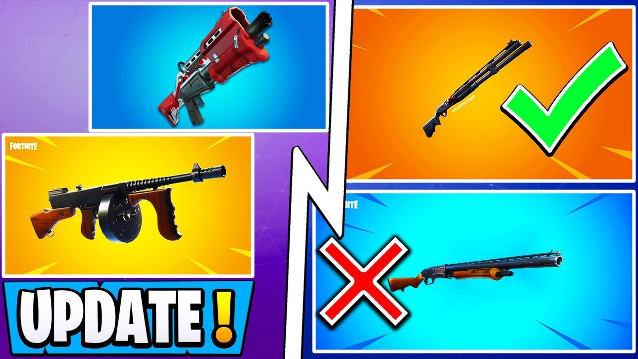 * ALL * Fortnite Season 9 Änderungen! | Pump Vaulted, Neue Schrotflinte, Drum Gun Update! + video