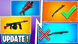 *ALL* Fortnite Season 9 Changes! | Pump Vaulted, New Shotgun, Drum Gun Update!