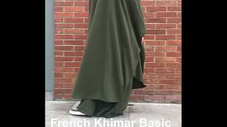 French Khimar | French Khimar Basic Zipper+Skirt | French Hijab | French Jilbab | Jus collections