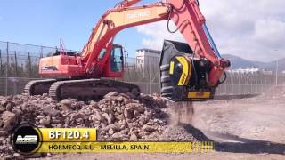 BF 120.4 يعمل على الحدود مع المغرب لبناء الصناعية المضلع ''لاس روساس''.