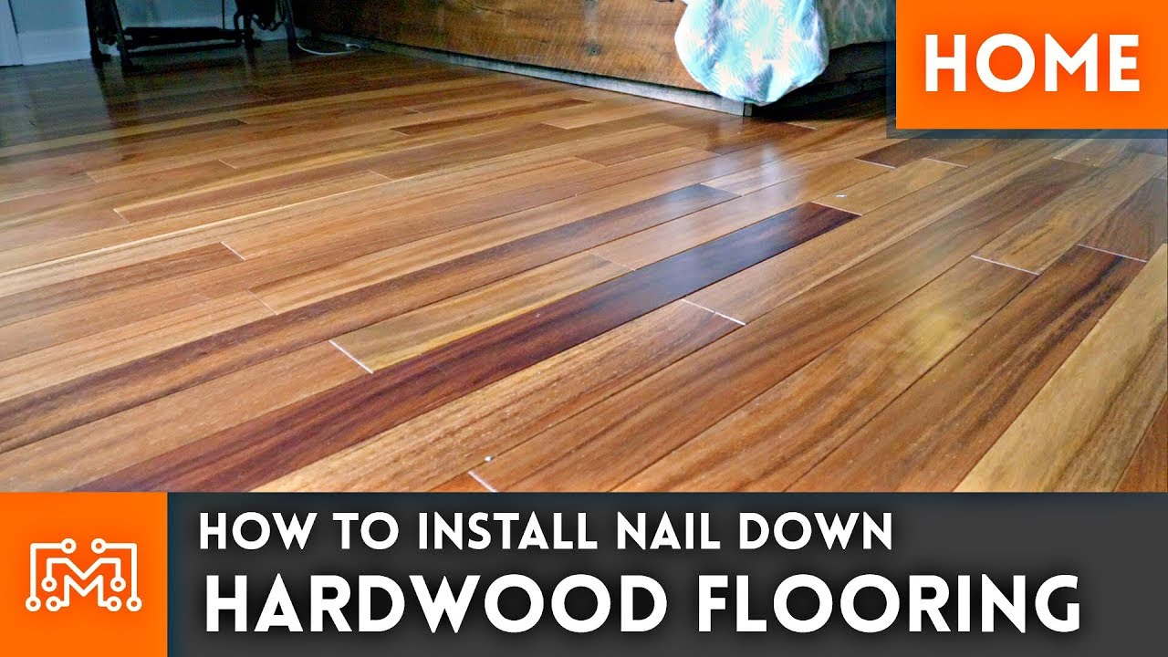 how to install hardwood flooring nail down home renovation - Pics Of Hardwood Floor