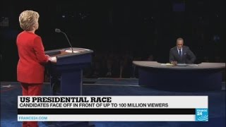 US Presidential Debate: Reactions around the political class after Clinton debates with Trump