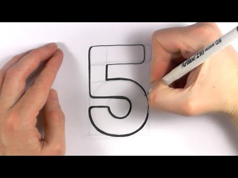 How to Draw a Cartoon Number 5