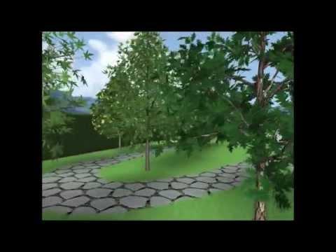 3d rendering di un giardino youtube for Rendering giardino