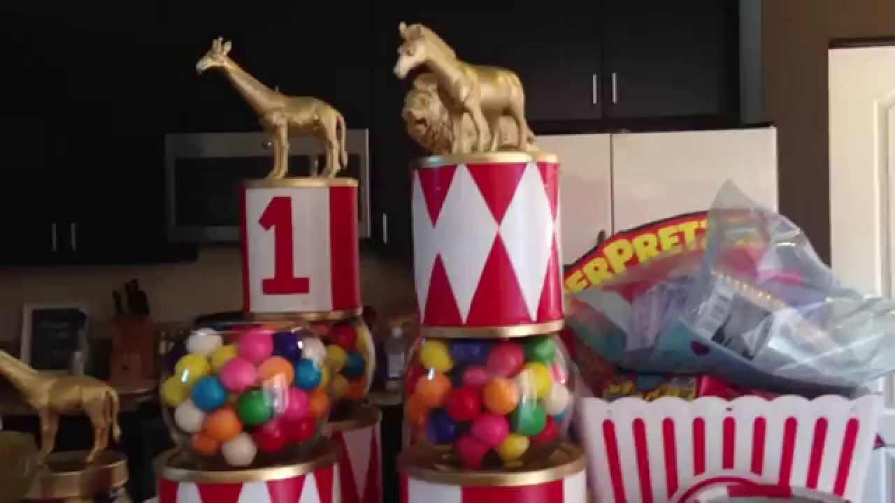 Twins 1st Birthday Vintage Circus Diy Centerpieces Diy