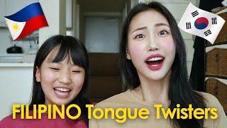 Korean Sisters Try TAGALOG Tongue Twisters