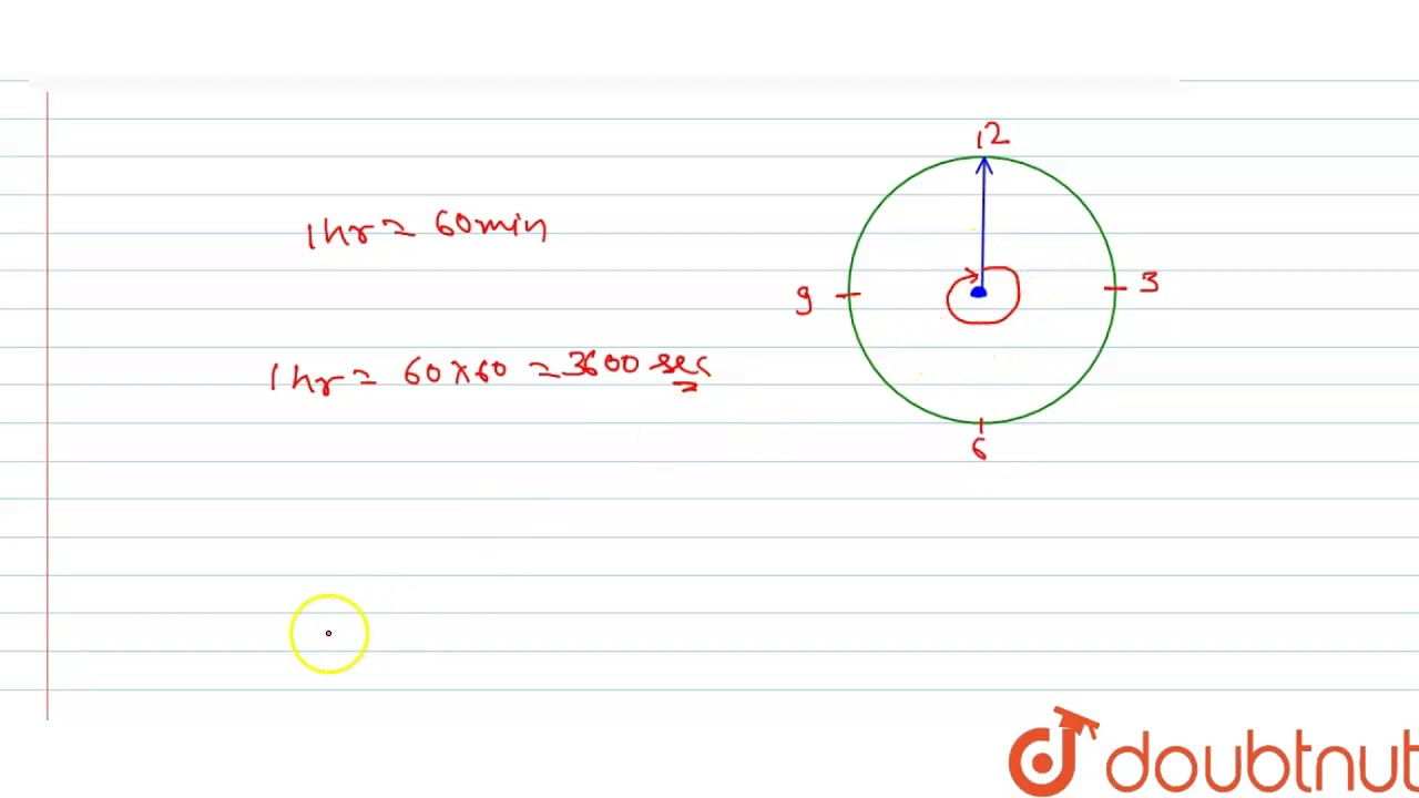 Find the angular speed of the minute hand of a clock. - YouTube
