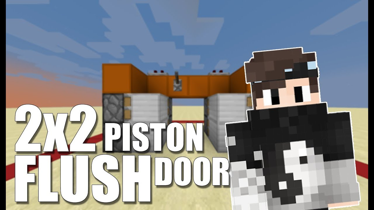 How To Make A 2x2 Flush Piston Door In Minecraft 1 14 Youtube