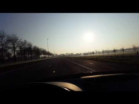 Driving my Alfa Romeo 166 with upcoming sun