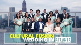 OUR MULTICULTURAL ROOFTOP WEDDING | Black & Indian Wedding at Ventanas in Atlanta