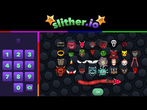 Slither.io 10 NEW SECRET CODES - Slither Io VIP DEVIL RELEASE (INVISIBLE NINJA)