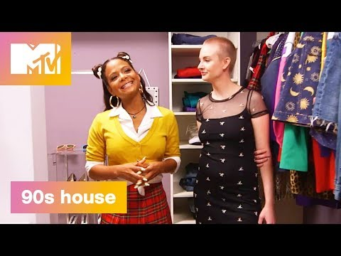 90's Closet: High-Wasited or JNCOs? | 90's House: Hosted by Lance Bass & Christina Milian | MTV