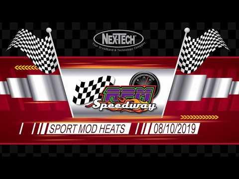 RPM Speedway Sport Mod Heats August 10th 2019