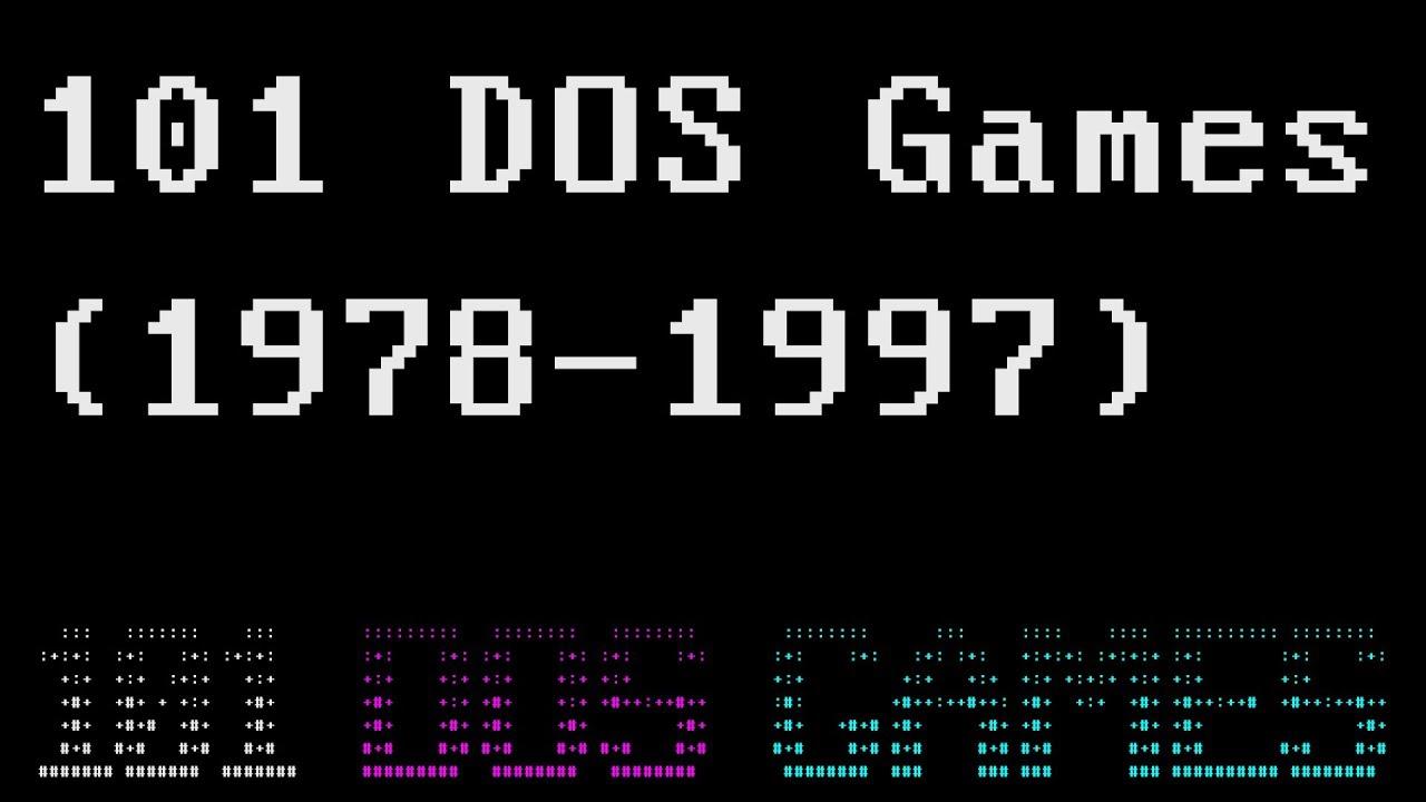 Dos text games