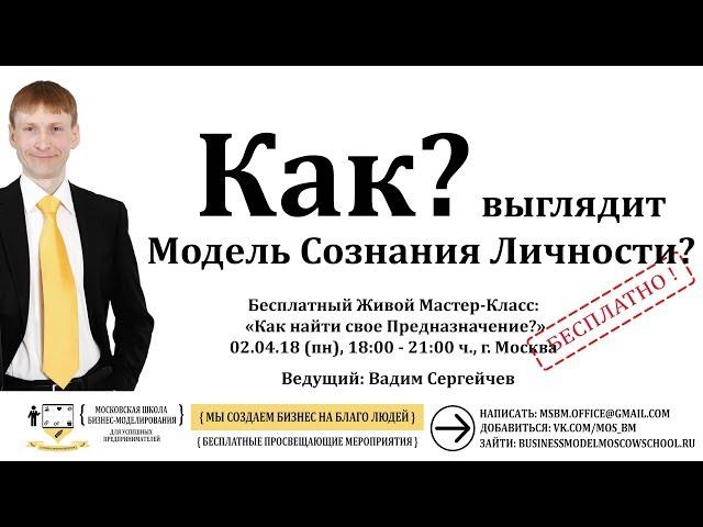 Как выглядит Модель Сознания Личности? - МК 1.0.2 - Стартап - Московская Школа Бизнес-Моделирования