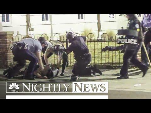Ferguson Cops Shot During Protest | NBC Nightly News