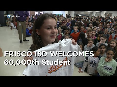 Frisco ISD celebrates 60,000 student in district